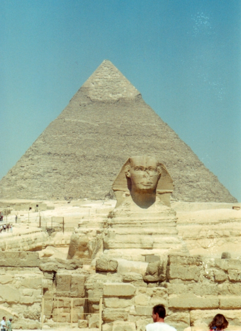 Pyramid of Chephren and Sphinx